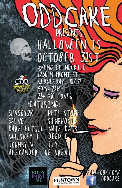 OddCake Presents - Halloween Is October 31st (2012) @ KungFu Necktie - www.nerdtech.net - www.oddcake.net Nerd-Tech.net, OddCake.net