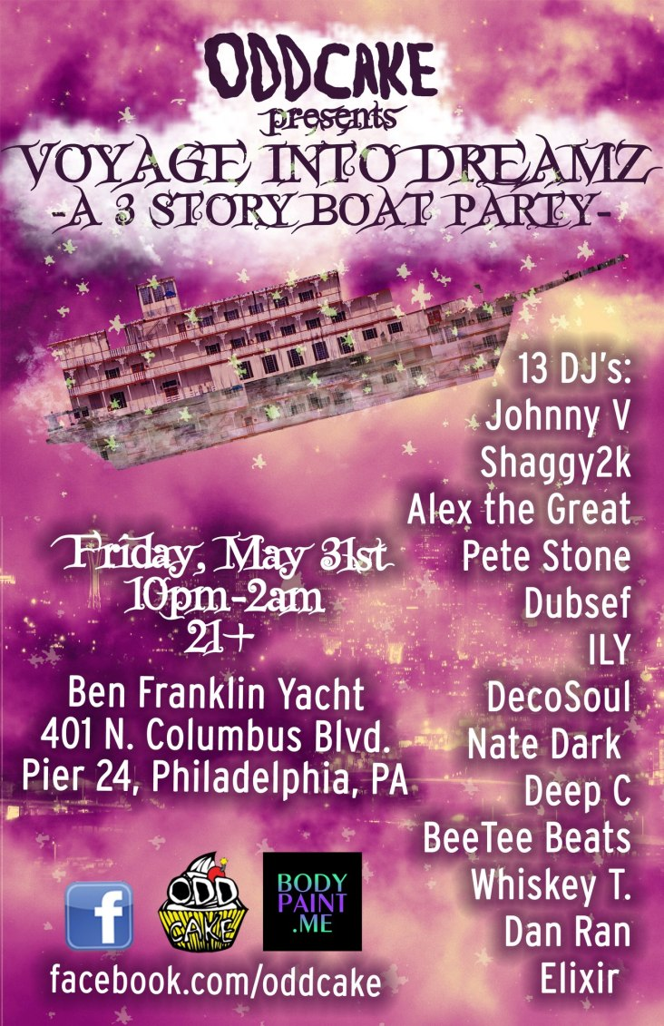 OddCake Presents: Voyage Into Dreamz – A Three Story Boat Party