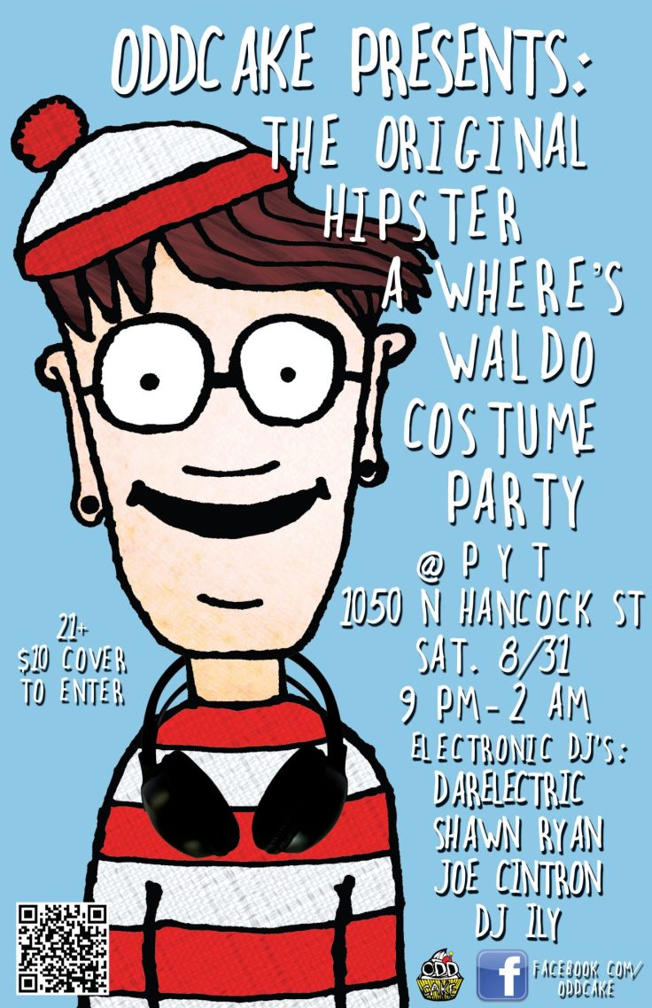 OddCake Presents - The Original Hipster, A Wheres Waldo Costume Party