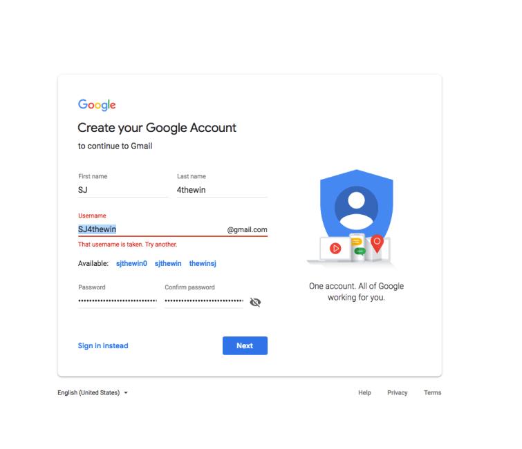 Gmail signup create a new google account username taken www.nerd-tech.net tutorials.png