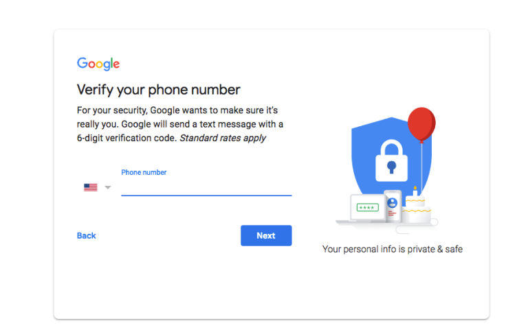 Gmail signup Verify your phone number Nerd-Tech.net Tutorials.png